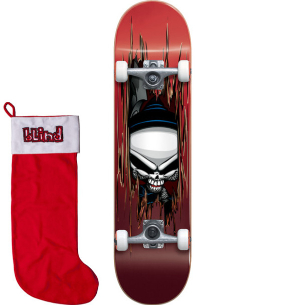 Blind Reaper Axe Sktaeboard Complete w/Stocking Red 7.75