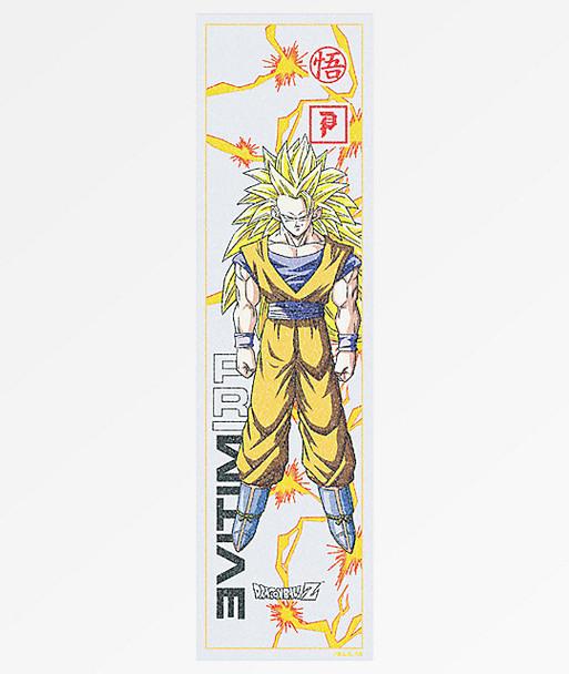 Primitive Goku Glow Grip Tape Blue Yellow 9x33