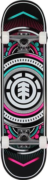 Element Hatched Skateboard Complete Teal Pink 7.7