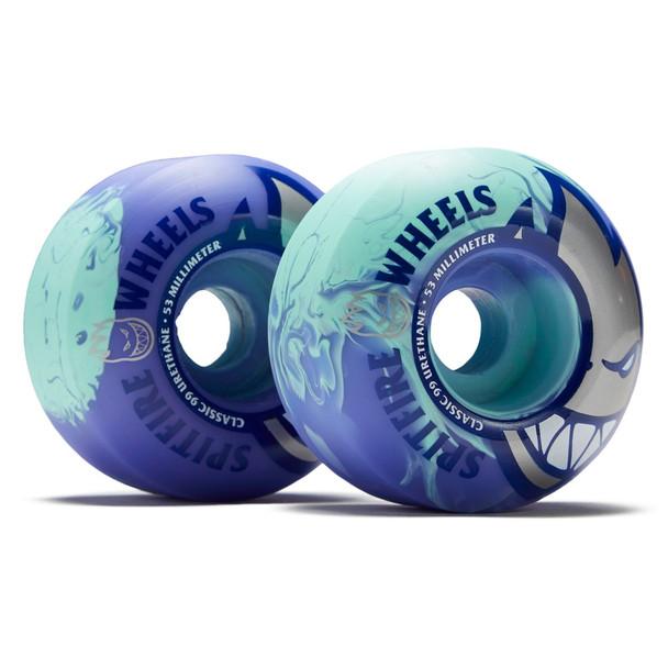 Spitfire Bighead Wheels Teal Purple Swirl 53mm/99d Set