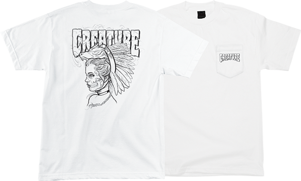 CREATURE DESCENDENT SS TSHIRT S-WHITE