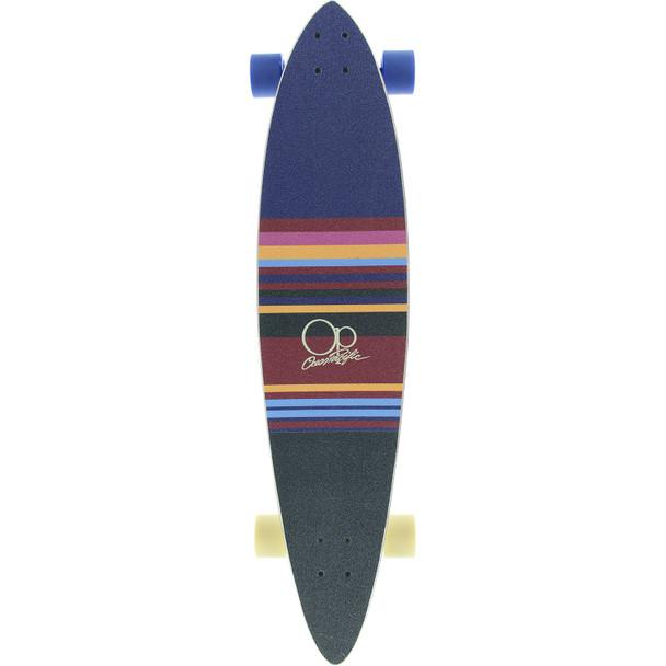 OP Swell Longboard Skateboard Complete Navy Off White 8.75x40