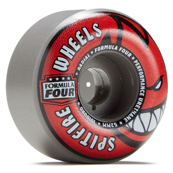 Spitfire Radial F4 Wheels Set Grey Red 55mm/101a
