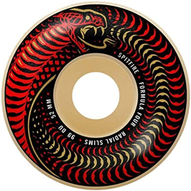 SF F4 Venomous Radial Slims Wheels Set Natural Red 54mm/99a