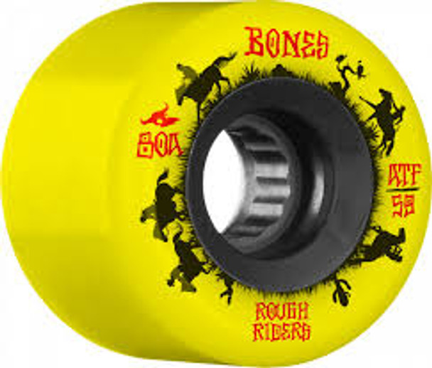 Bones ATF Rough Rider Wranglers Wheels Set Yellow 59mm/80a