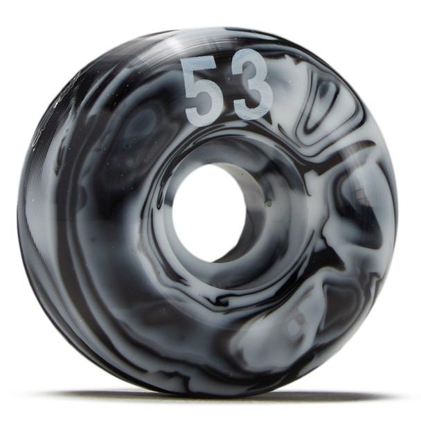 Essentials Swirl Skate Wheels Black White 53mm