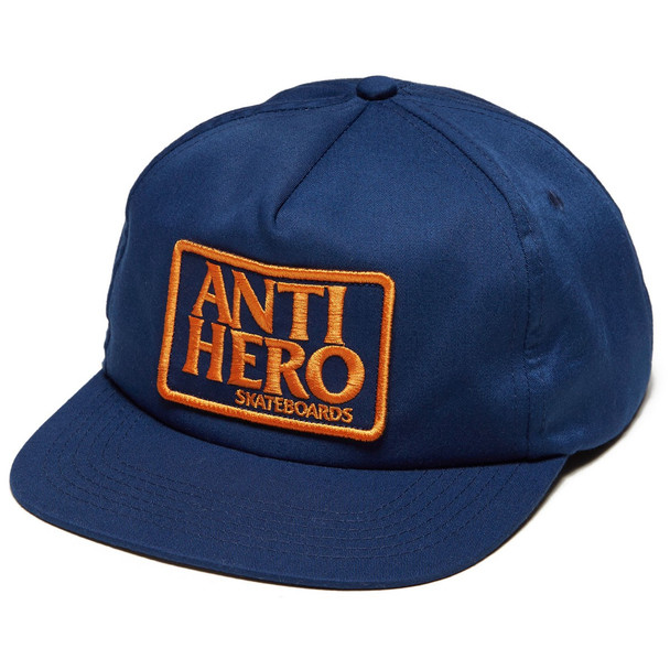 Anti Hero Reserve Patch Hat Navy Orange Snapback
