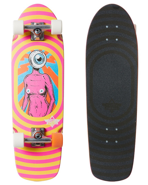 """Dusters Sight Cruiser Skateboard Complete Pink Yellow Orange 29"""""""