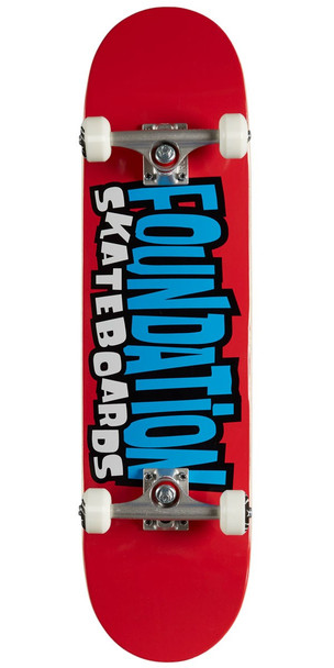 Foundation From the 90s Skateboard Complete Red 8