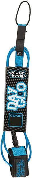 Sticky Bumps Comp Day Glo Leash Blue 6ft