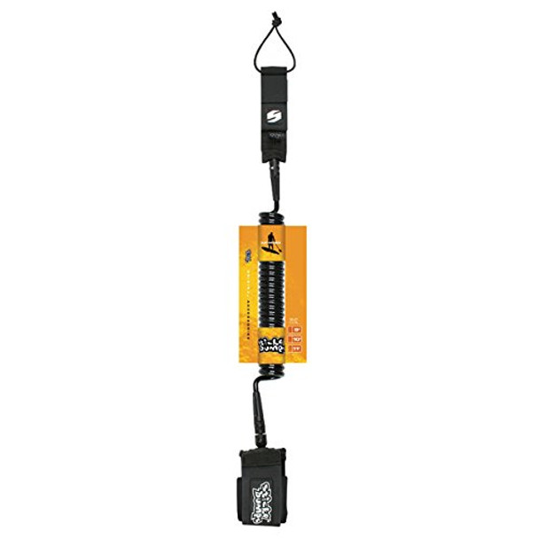 Sticky Bumps SUP Coiled Leash Black 11'