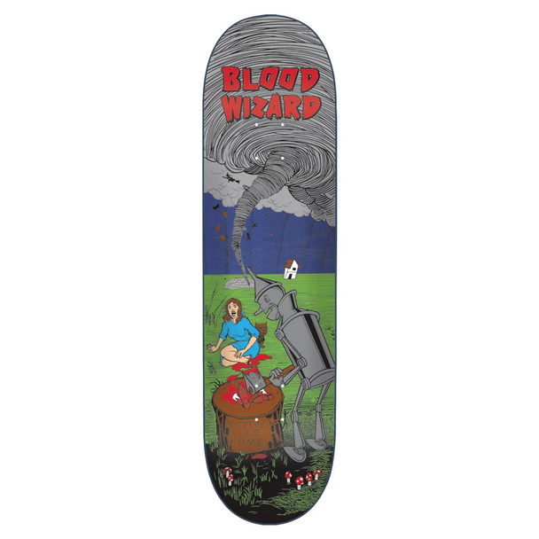 Blood Wizard Tin Man Skate Deck Purple 8.75 w/ MOB Grip