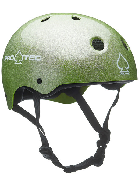 Protec Classic Skate Helmet Green Flake S
