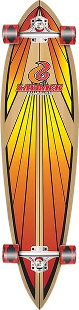 Layback Soulride Pintail Skateboard Complete YellowOrange 40x9.75