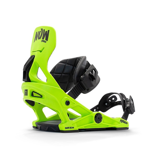 NOW Nx-Gen Snowboard Bindings Youth 2021 Green Small