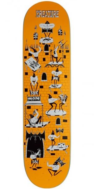 Creature Free For All PowerPly Skate Deck Orange 8