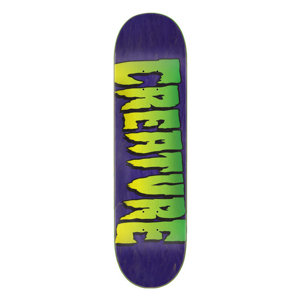 Creature Logo Stumps Skate Deck Purple Stain 8.25