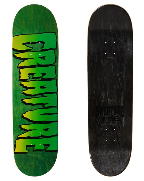 Creature Logo Stumps Skate Deck Green Stain 8.51