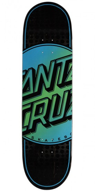 Santa Cruz Total Dot Skate Deck Black Blue Green 8.5
