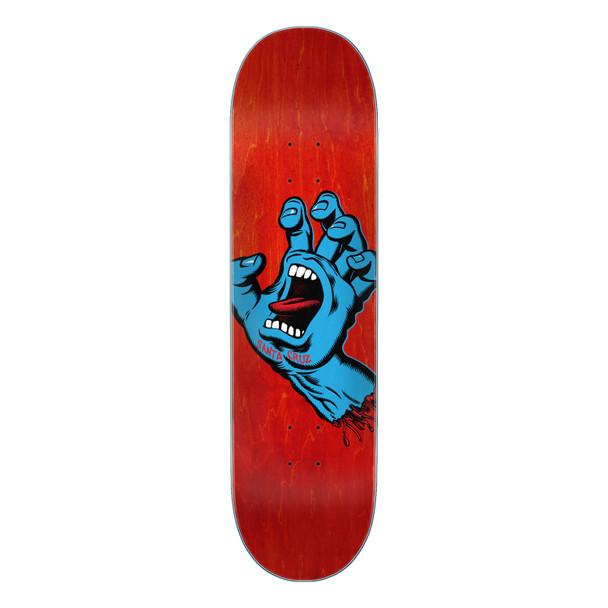 Santa Cruz Screaming Hand Skate Deck Matte Red 8