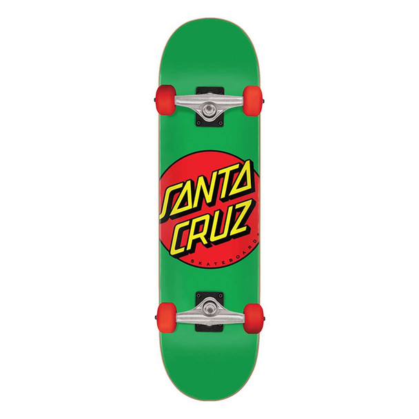 Santa Cruz Classic Dot Skateboard Complete Green 7.8