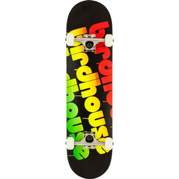 Birdhouse Triple Stack Skateboard Complete Black Rasta 8