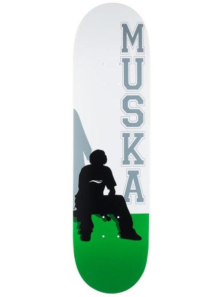 Shortys Muska Silhouette Skate Deck White Green 8.5