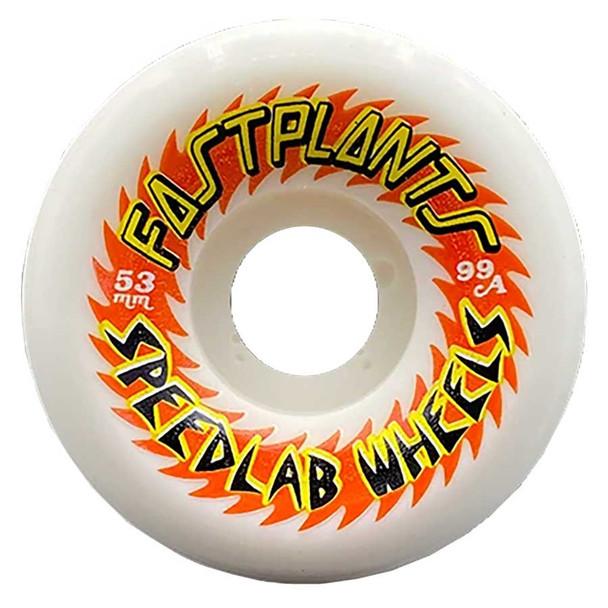 Speedlab Fastplants Wheels Set White 53mm 99a