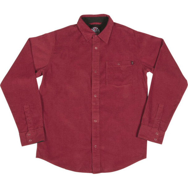 Independent Roy Corduroy Button Up Burgundy