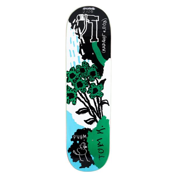 WKND Toms Garden Skate Deck Blue Green 8.125