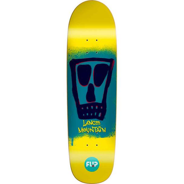 Flip Mountain Block Skate Deck Yellow 8.75