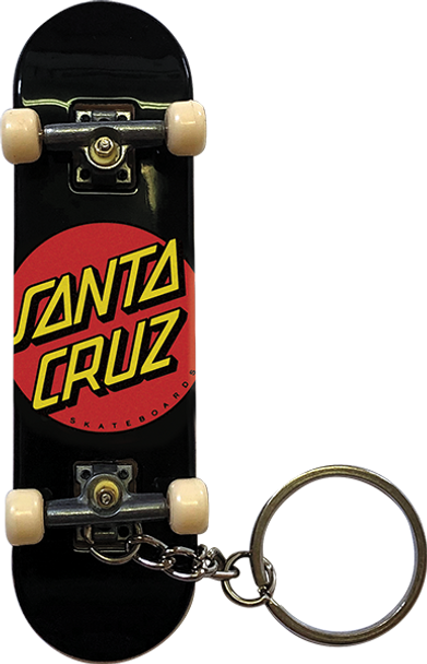 SANTA CRUZ CLASSIC DOT FINGERBOARD KEYCHAIN BLK/RED