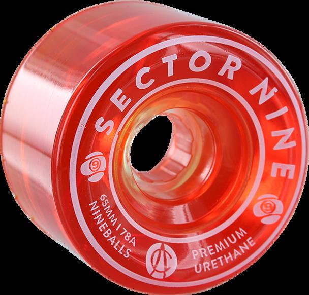 SECTOR 9 NINEBALLS 65mm 78a WARM RED WHEELS SET