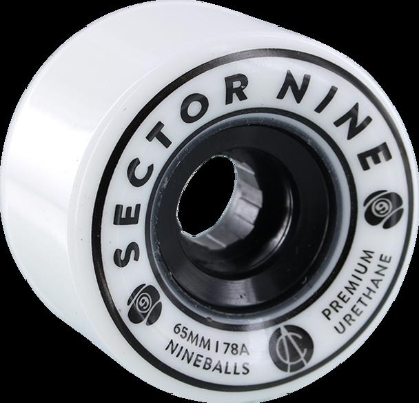 SECTOR 9 NINEBALLS 65mm 78a WHITE WHEELS SET