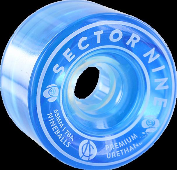 SECTOR 9 NINEBALLS 65mm 78a BLUE WHEELS SET