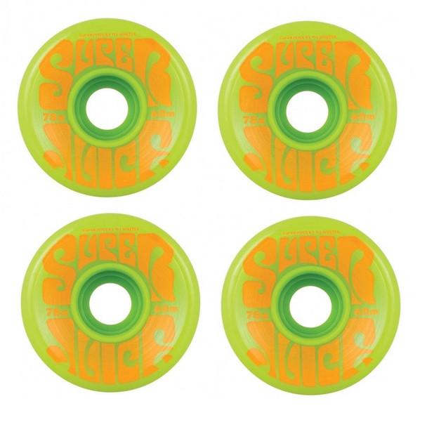 OJ Super Juice Wheels Set Green Orange 60mm 78a