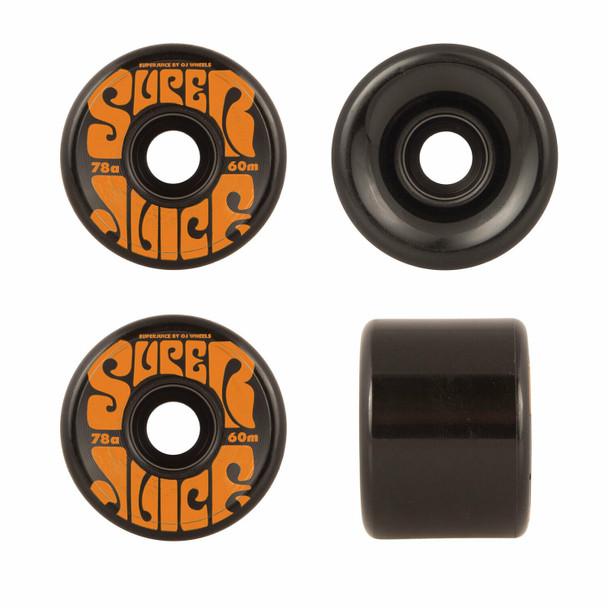 OJ Super Juice Wheels set Black Orange 60mm78a