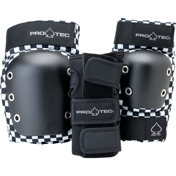 Protec Junior 6pack Pad Set Checkered Youth Medium