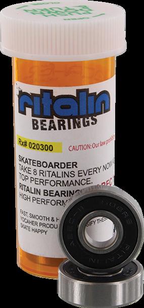 RITALIN ABEC-11 BLACK BEARINGS