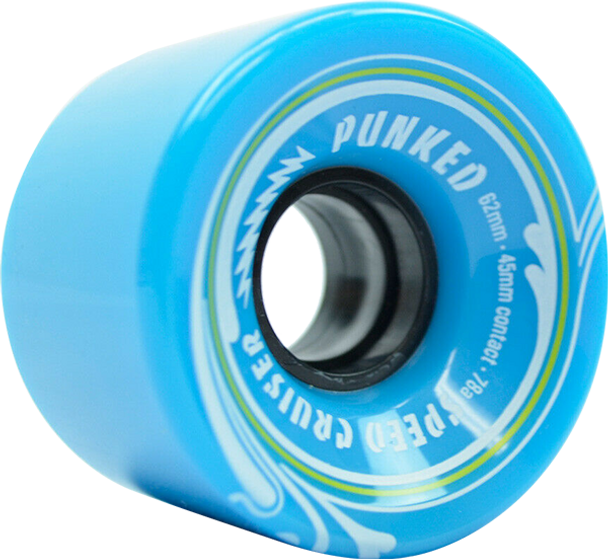 PUNKED SPEED CRUISER 62mm 78a SOLID BABY BLUE WHEELS SET