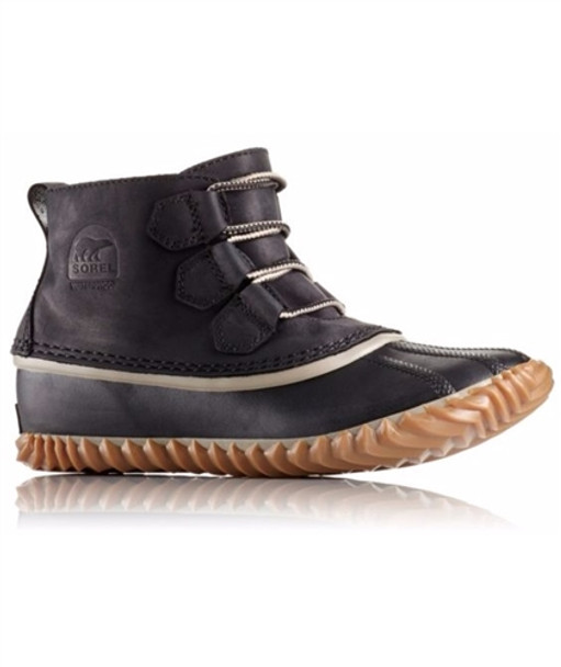 Sorel Out N About Leather Womens Boots Black