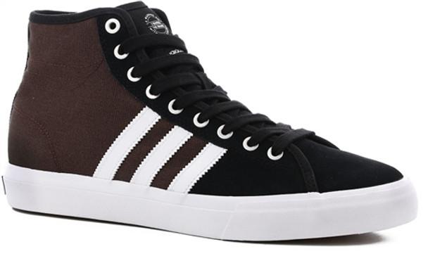 new concept c6f65 0f7c7 Adidas Matchcourt High RX Shoes Black White Brown