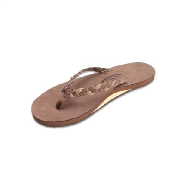 ecef75c07 Rainbow Sandals 301 Aldbs Twisted Sister Womens Espresso Drk Brown ...