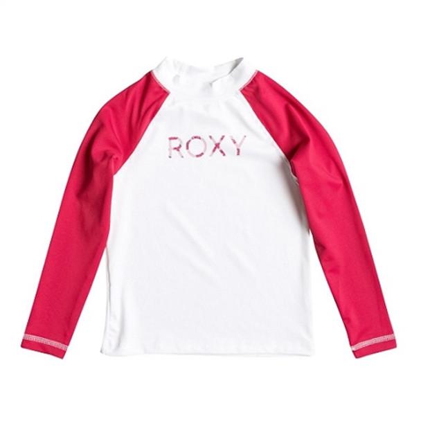Roxy Sail Away Kids LS Rash Guard White Purple
