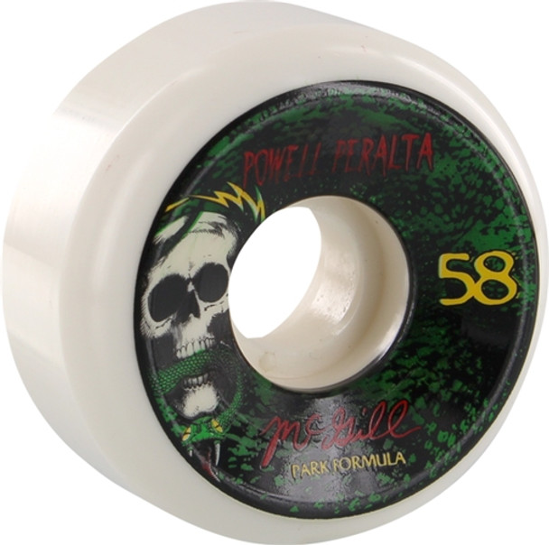 POWELL PERALTA MCGILL SKULL & SNAKE 3 PF 58mm WHT GRN 103a Wheels Set