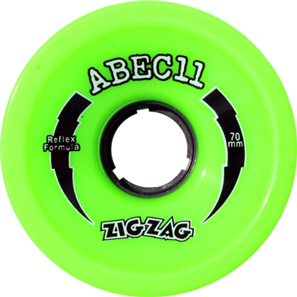 ABEC11 ZIGZAGS 70mm 80a LIME Skateboard Wheels