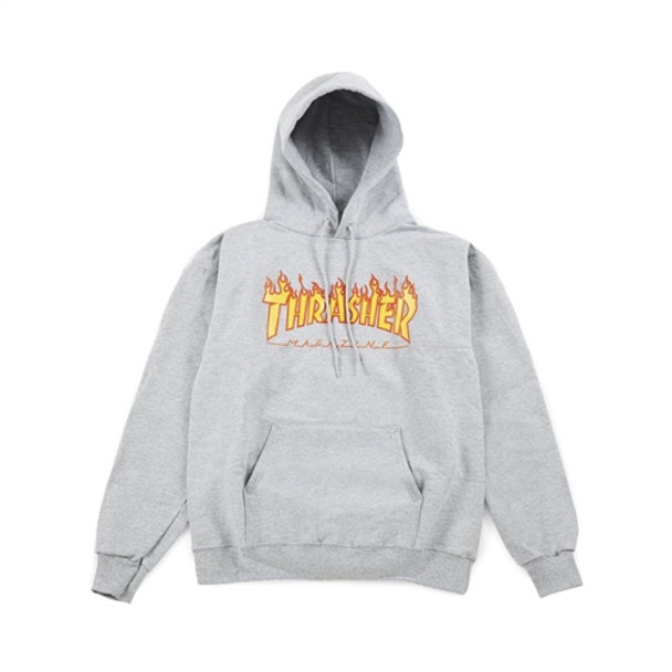 Thrasher Flame Hoody Grey Small