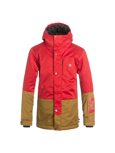 DC Defy Youth Snow Jacket Red Tan