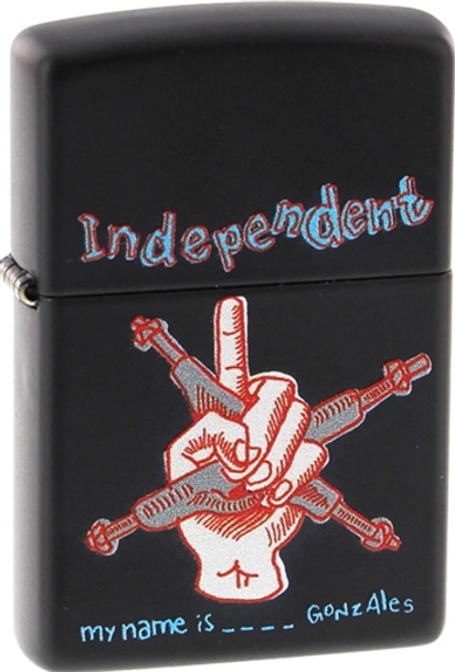 INDEPENDENT MY NAME IS GONZALES ZIPPO LIGHTER MATTE BLK