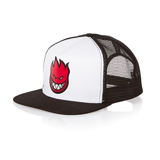 7cce58631d5 Spitfire Bighead Trucker Hat Snapback Black White Red Adjustable ...